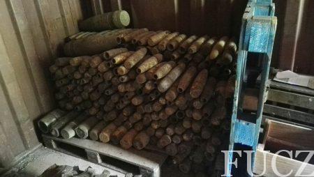 Timovi za UES  FUCZ sa otpada sekundarnih sirovina u sarajevskom naselju Bačići uklonili 884 komada topovske i haubičke municije