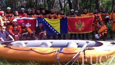 Devet pripadnika FUCZ uspješno završili SWIFT obuku spašavanja na brzim i mirnim vodama i dobili međunarodnu licencu Rescue 3 (R3)