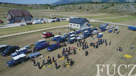 Više od 100 pripadnika FUCZ i 20 vozila u velikoj akciji prosijecanja šume,  odvajanja i gašenja požara na planini Čvrsnici kod Jablanice