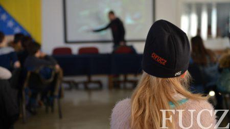 """Učenici sedmih razreda Desete osnovne škole Ilidža posjetili FUCZ u okviru realizacije nastavne jedinice """"Neeksplodirana ubojna sredstva"""""""