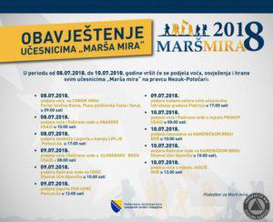 Mars mira obavještenje